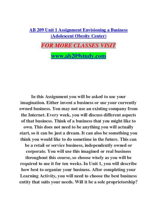 AB 209 STUDY Extraordinary Success/ab209study.com AB 209 STUDY Extraordinary Success/ab209study.com