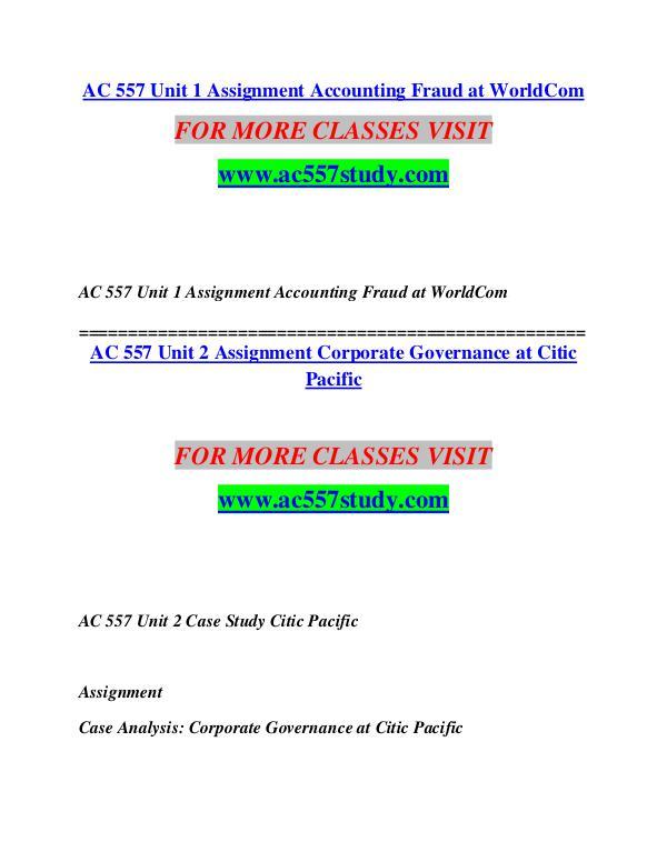 AC 557 STUDY Extraordinary Success/ac557study.com AC 557 STUDY Extraordinary Success/ac557study.com