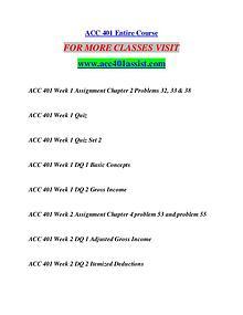 ACC 401 ASSIST Extraordinary Success/acc401assist.com