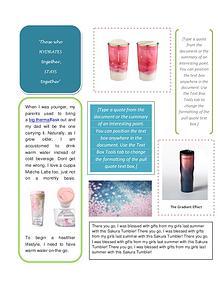 Sakura Cups and Tumbler