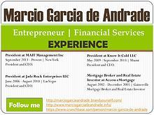 Marcio Garcia de Andrade – Experience