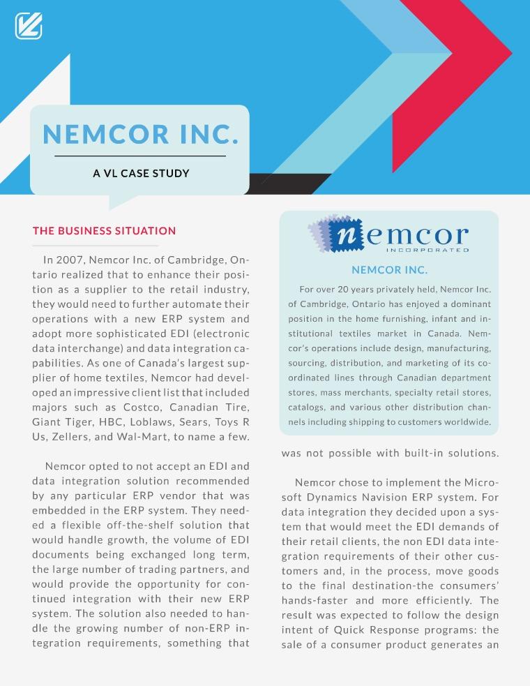 VL OMNI Resources Nemcor Inc. : A VL Case Study