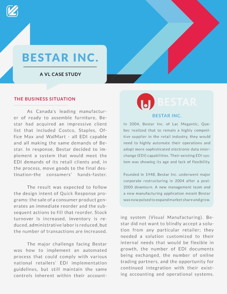 VL OMNI Resources Bestar Inc. A VL Case Study