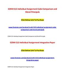 CCMH 515 All Assignments