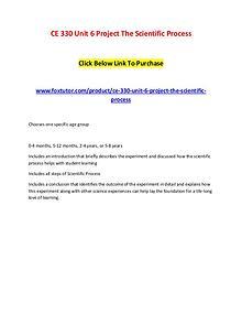 CE 330 Unit 6 Project The Scientific Process