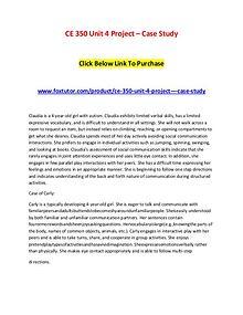 CE 350 Unit 4 Project – Case Study