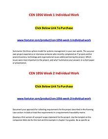 CEN 1056 All Assignments