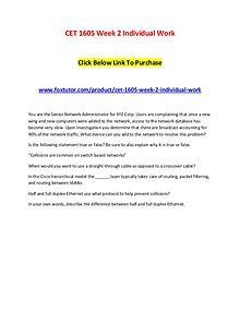 CET 1605 Week 2 Individual Work