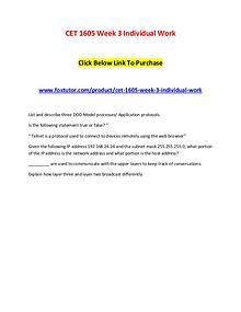 CET 1605 Week 3 Individual Work