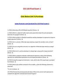 CIS 115 Final Exam 1