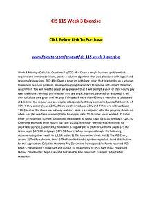 CIS 115 Week 3 Exercise