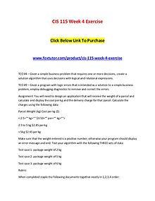 CIS 115 Week 4 Exercise