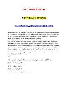 CIS 115 Week 6 Exercise