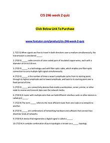 CIS 246 week 2 quiz