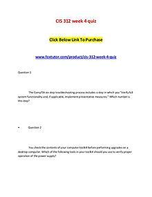 CIS 312 week 4 quiz