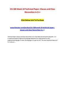 CIS 328 Week 10 Technical Paper