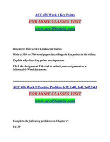 ACC 456 STUDY Extraordinary Success/acc456study.com
