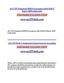 ACC 537 STUDY Extraordinary Success/acc537study.com