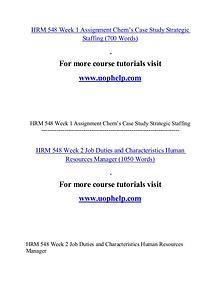 HRM 548 help Minds Online/uophelp.com