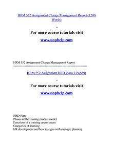 HRM 552 help Minds Online/uophelp.com