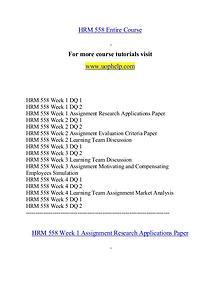 HRM 558 help Minds Online/uophelp.com