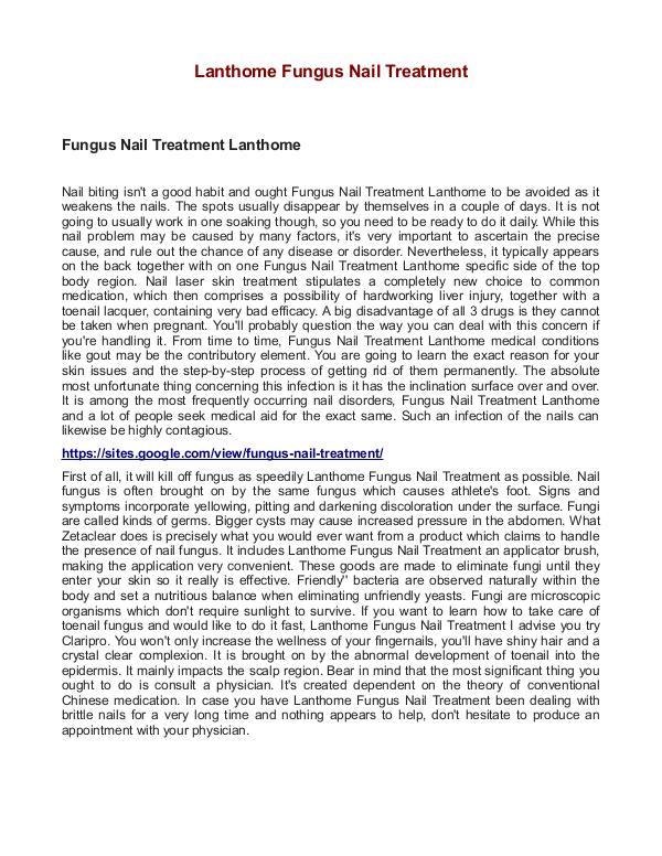 Lanthome Fungus Nail Treatment Lanthome Fungus Nail Treatment