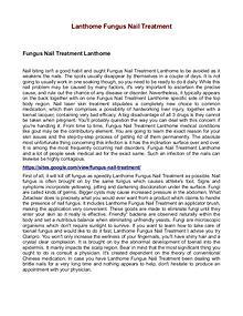 Lanthome Fungus Nail Treatment