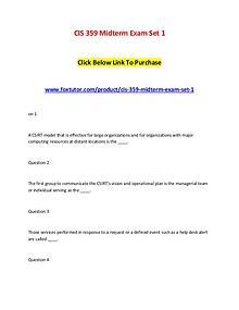 CIS 359 Midterm Exam Set 1 (2)