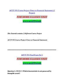 ACCT 551 RANK Extraordinary Success/acct551rank.com