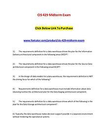 CIS 429 Midterm Exam