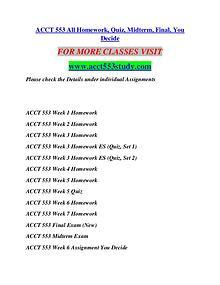 ACCT 553 STUDY Extraordinary Success/acct553study.com