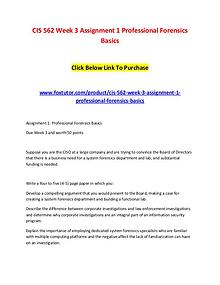 CIS 562 Week 3 Assignment 1 Professional Forensics Basics (2)