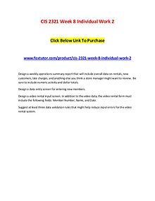 CIS 2321 Week 8 Individual Work 2