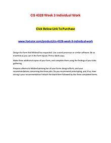 CIS 4328 Week 3 Individual Work