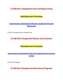 CJ 150 All Assignments