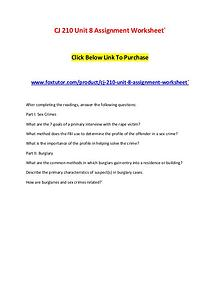 CJ 210 Unit 8 Assignment Worksheet`