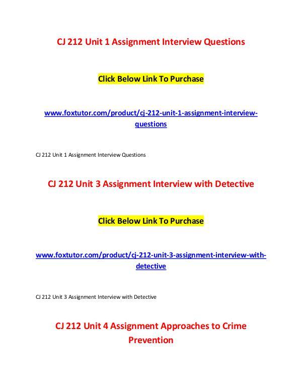 CJ 212 All Assignments CJ 212 All Assignments