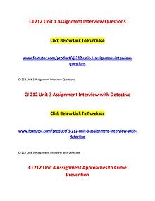 CJ 212 All Assignments