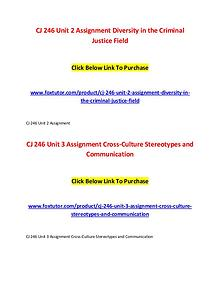 CJ 246 All Assignments