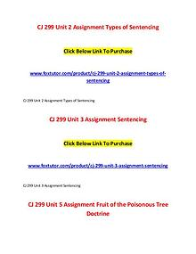 CJ 299 All Assignments