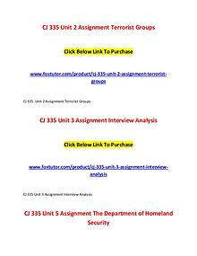 CJ 335 All Assignments