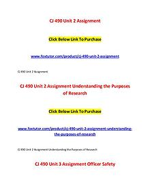 CJ 490 All Assignments