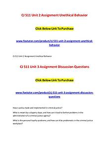 CJ 511 All Assignments