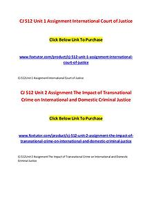 CJ 512 All Assignments