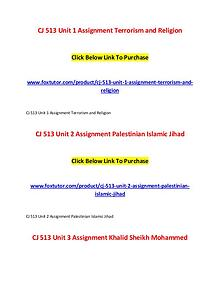 CJ 513 All Assignments