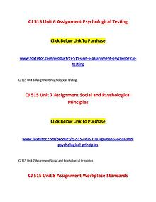CJ 515 All Assignments