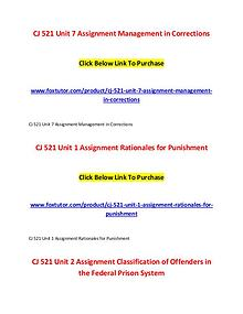 CJ 521 All Assignments