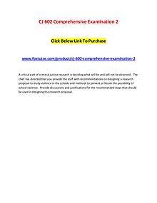 CJ 602 Comprehensive Examination 2