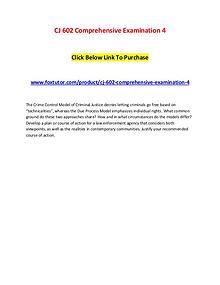 CJ 602 Comprehensive Examination 4