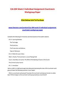 CJA 204 Week 3 Individual Assignment Courtroom Workgroup PaperC